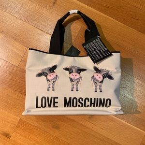 Moschino cow tote bag